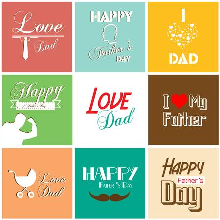 Happy father s day card with font, typography Vector