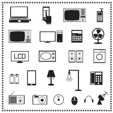 Electronics icons set, Vector illustration Stock Vector - 19256029