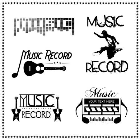 Music Record Labels, Vector illustration Vector