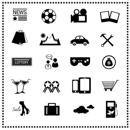 Icons of the news website Vector