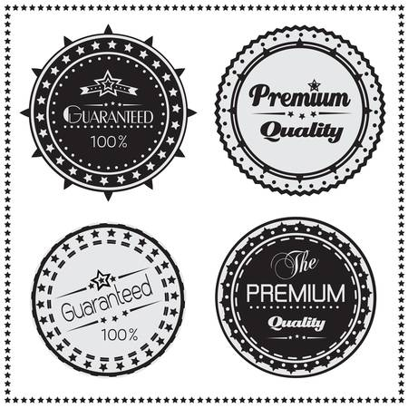 Premium Quality and Guarantee retro labels, Vector illustration Vector