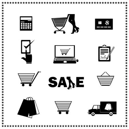Set of shopping icons  Vector illustration Vector
