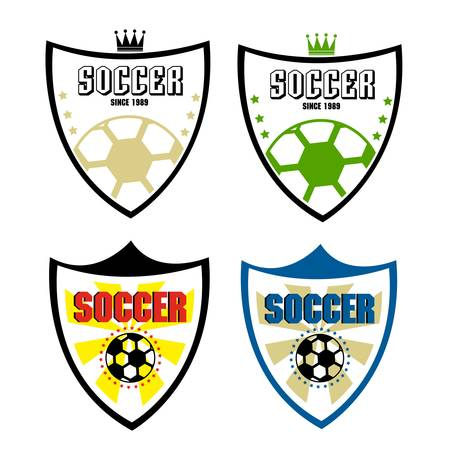 set of soccer badge Vector