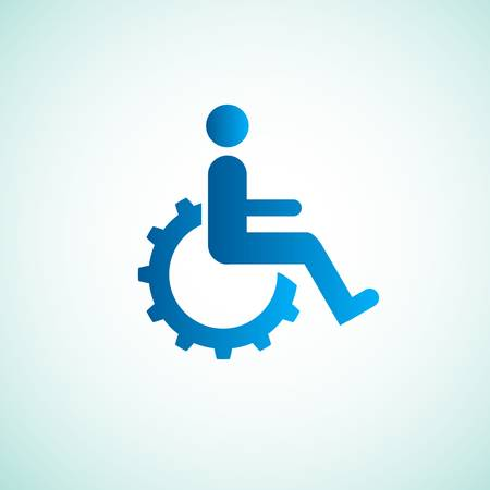 disabled icon sign with gear Stock Vector - 19460359