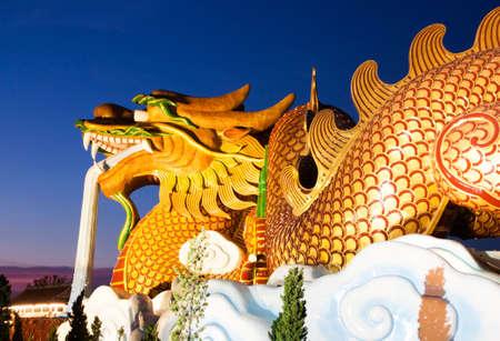 descendants: Golden Dragon on the Sky at Dragon Descendants Museum in Suphanburi Province Thailand