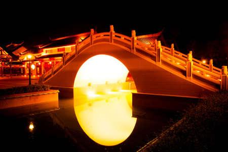 An Arch Bridge at Dragon Descendants Museum in Suphanburi Province Thailand
