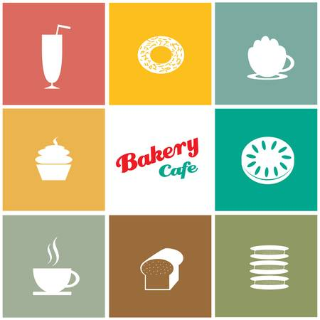 donut style: bakery cafe background designs Illustration