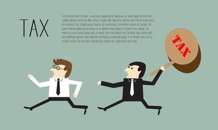 Zakenman loopt belastingontduiking Vector Illustratie