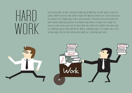 businesslike: Businessman are avoiding the hard work Illustration