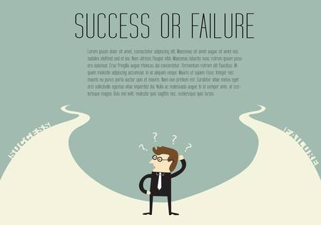 wrong way: Success or Failure Illustration
