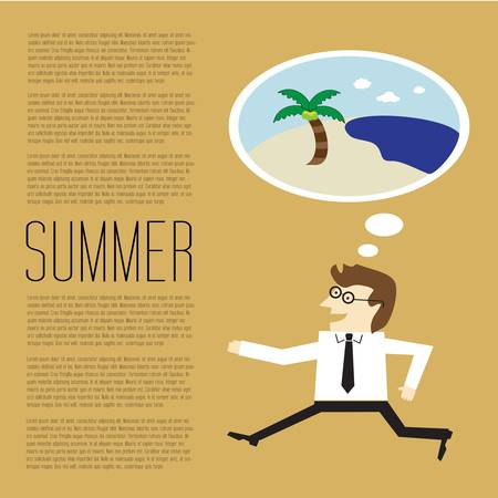 Businesses will vacation in summer to the beach Vector