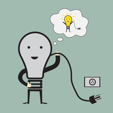 Bulb man with idea man Stock Vector - 22142004