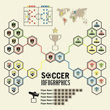 Soccer infographic Illustration