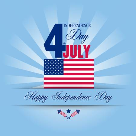 Independence Day card  July 4 Vector