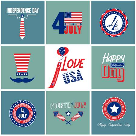 Happy Independence day card with font, typography Stock Vector - 22142027