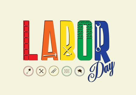 labor union: Happy Labor day, Vector illustration