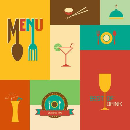 Set of Retro style restaurant menu design Stock Vector - 22142064
