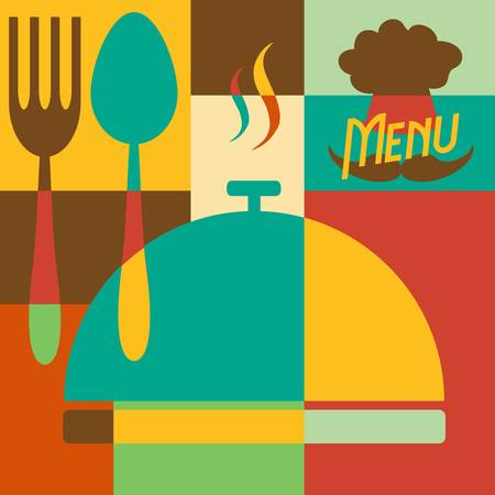 Set of Retro style restaurant menu design Stock Vector - 22142065