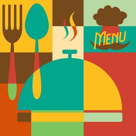 Set of Retro style restaurant menu design Stock Vector - 22142065