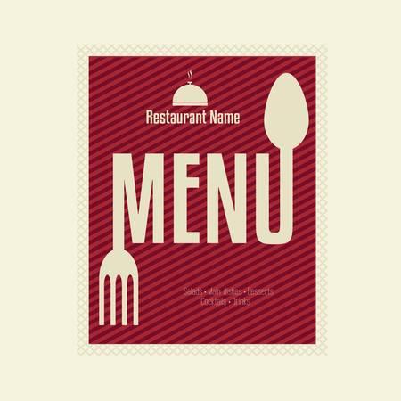 Restaurant Menu Card Design-Vorlage Illustration