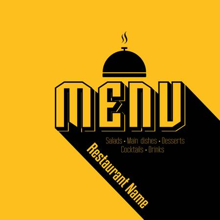Retro Restaurant Menu Card Design template Vector