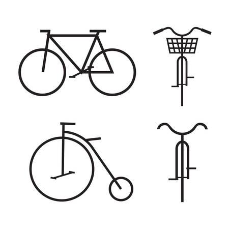 Bicycle, Vector illustration Illustration