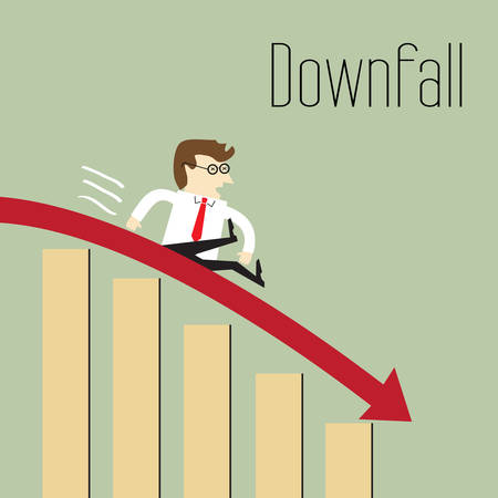 downfall: Downfall, Chart going through the floor, Business decline