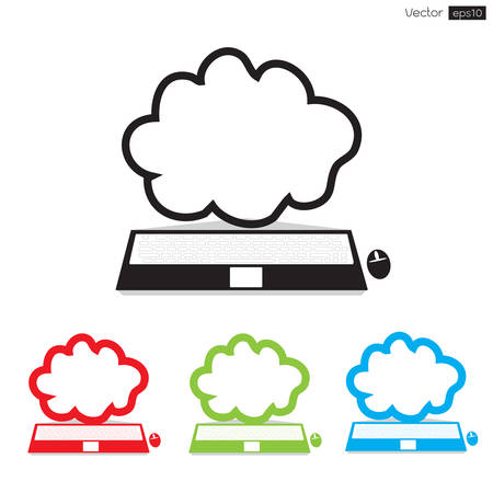 Cloud computing icon, Vector illustration  Vector