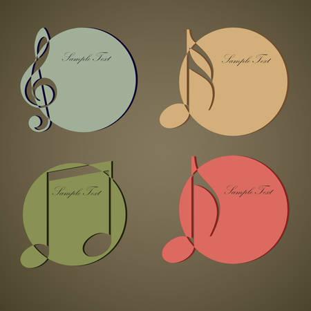 grooves: Vintage Music circle label  vector illustration