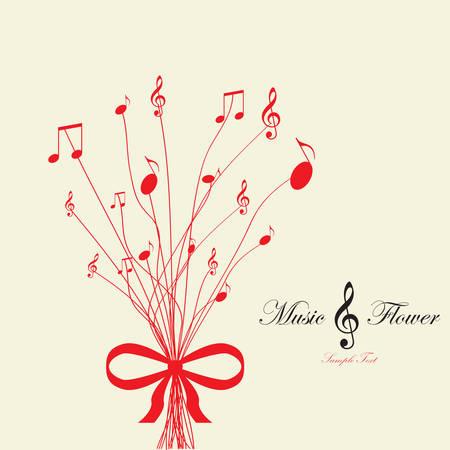 Musical flower  Vector illustration