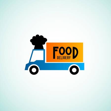 negocios comida: Signos de entrega de alimentos Vectores