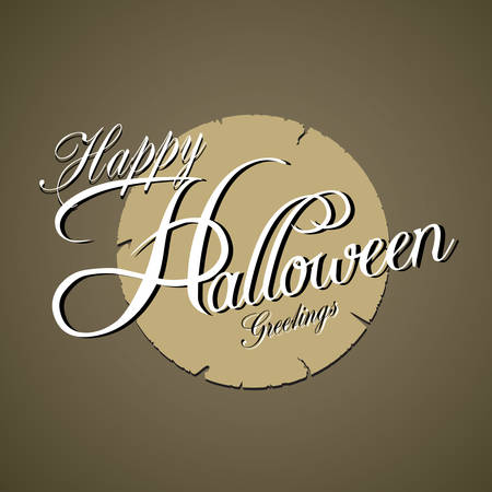 Happy Halloween Typography, vector illustration Vector