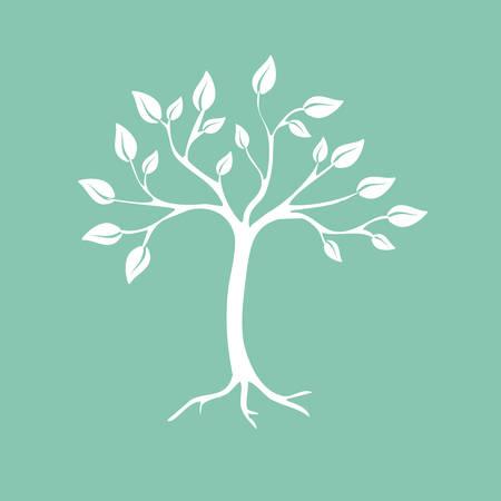 modern life: Abstract tree  Vector illustration