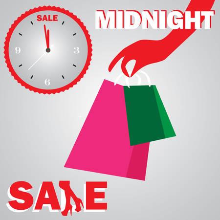 Midnight sale shopping girl