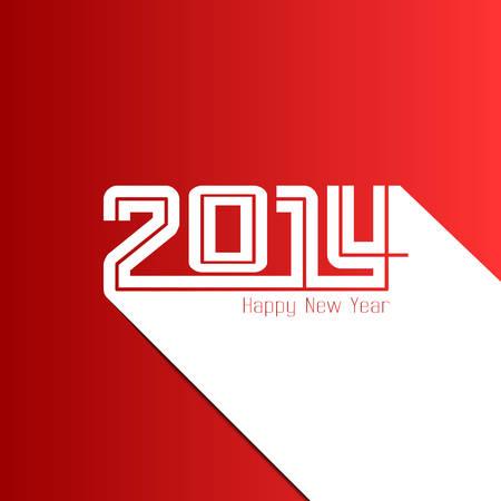 Frohes Neues Jahr 2014 Karte, Vektor-Illustration Illustration