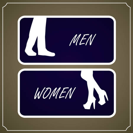 Restroom Signs, Vector illustration Vector