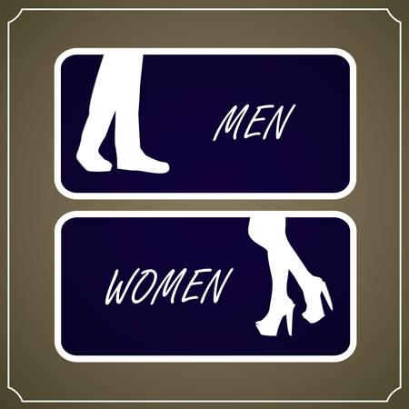Restroom Signs, Vector illustration