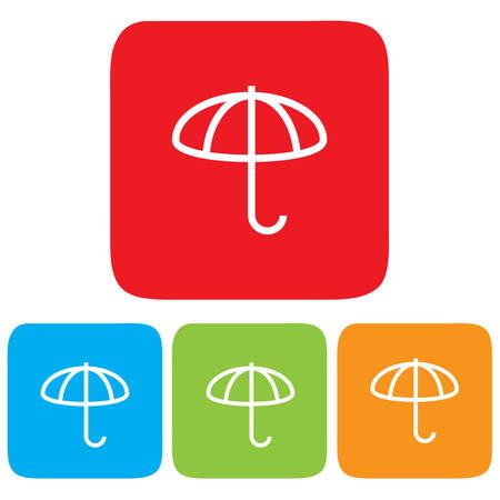brolly: Umbrella icons, Vector illustration Illustration