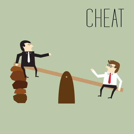 Businessmen cheated Illustration