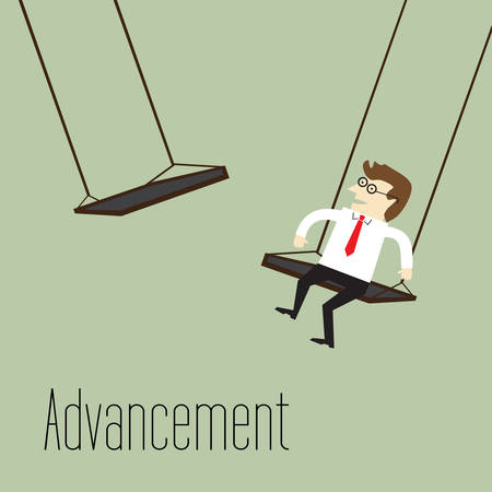advancing: Businessman to advancing on higher Illustration