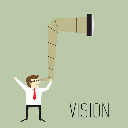 Vision, Businessman looking forward Prospects for future business