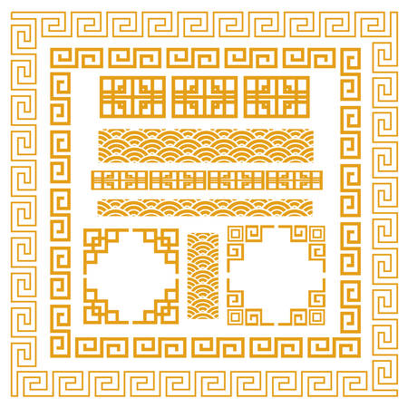 borders abstract: Chinese decorative frame Illustration