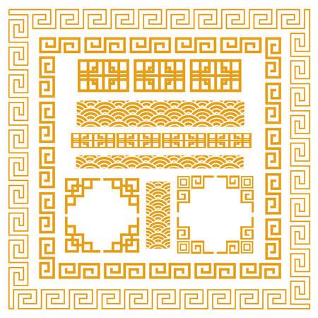 elementi: Cornice decorativa cinese
