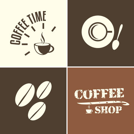 coffee time: coffee time and coffee shop, vector illustration design elements Illustration