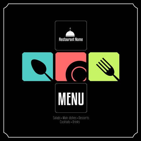 restaurant dining: Restaurant Menu Card Design template