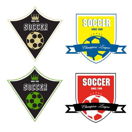Soccer badge, Soccer labels, Soccer emblems Vector