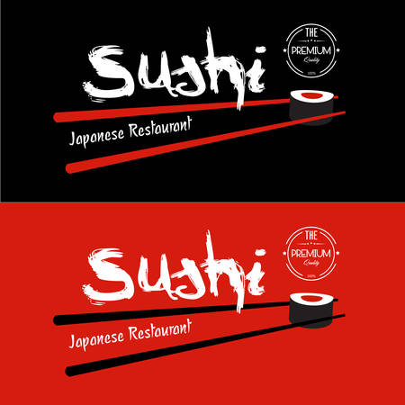 Sushi Japanese Restaurant design template Vector