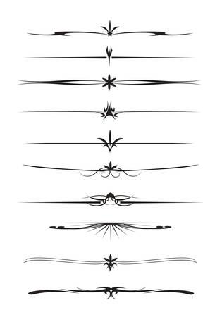 set of text separator line Illustration