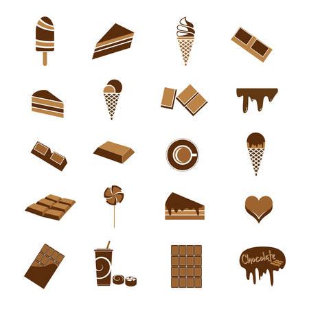 chocolate truffle: Chocolate icons Illustration