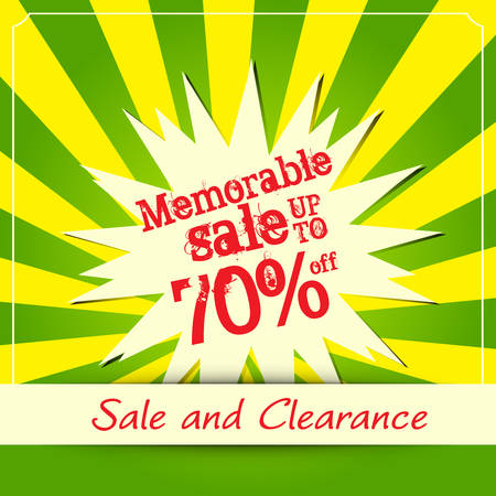 Memorable sale poster, Vector illustration Vector
